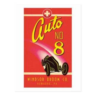 Vintage Auto Car Product Label Art Postcard