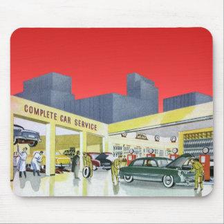 Vintage Auto Mechanics Complete Car Service Garage Mouse Pad