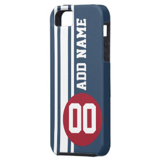 Vintage Auto Racing Stripes with number and name iPhone 5 Covers