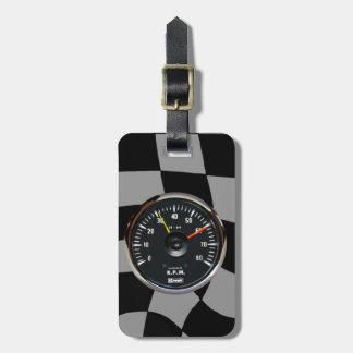 Vintage Auto Racing Tachometer Tags For Luggage