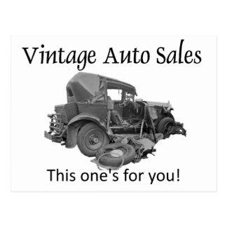 Vintage Auto Sales, Postcard