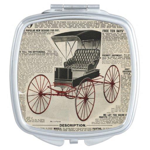 Vintage Auto Seat Buggy Vanity Mirrors