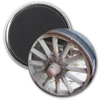 Vintage Auto Wheel 6 Cm Round Magnet