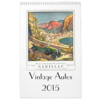 Vintage Autos 2015 Wall Calendars