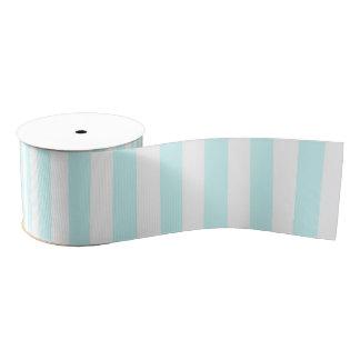 Vintage Baby Blue Pastel Colors Stripes Pattern Grosgrain Ribbon