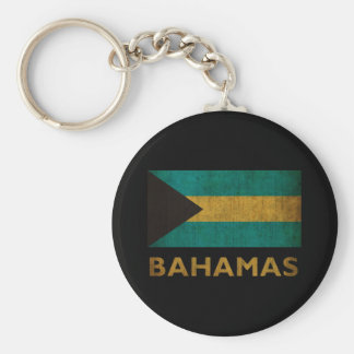 Vintage Bahamas Basic Round Button Key Ring