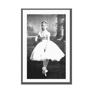 VINTAGE BALLET COPPELIA DANCER OLD BALLERINA PRINT