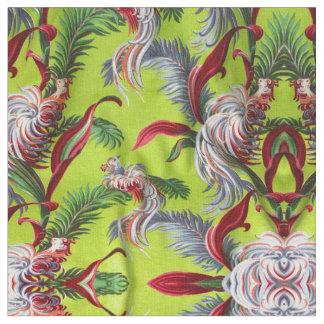 Vintage Barkcloth Abstracted Tiki Island Decor Fabric