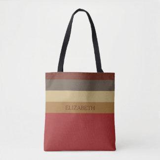 Vintage Barn Palette Stripes Personalized Tote Bag