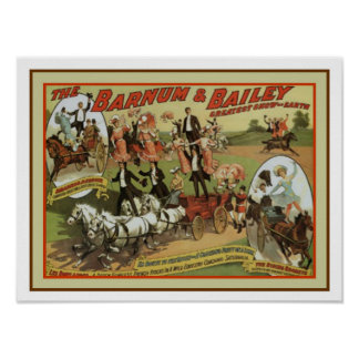 Vintage Barnum and Bailey Ad Poster 12 x 16