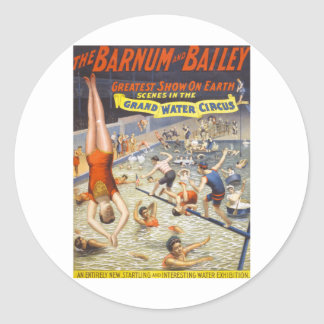 Vintage Barnum and Bailey Circus Round Sticker