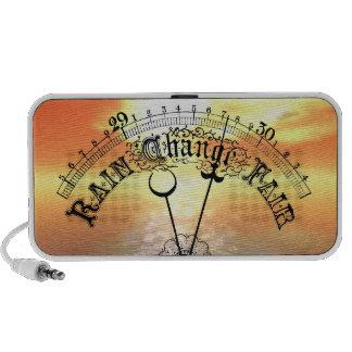 Vintage Barometer With Fair Weather Orange Sunset PC Speakers