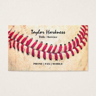 Vintage Baseball Red Stitches Close Up Photo