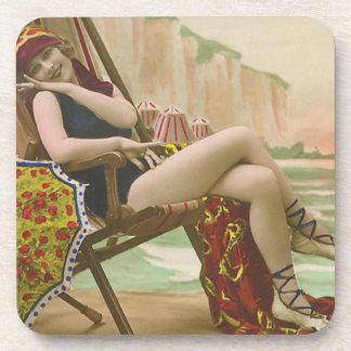 Vintage Bathing Beauties Beverage Coasters