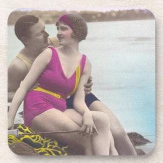 Vintage Bathing Beauties Drink Coasters