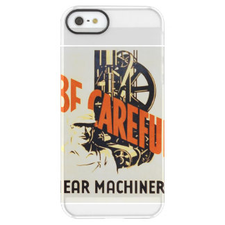 Vintage Be Careful Near Machinery WPA Poster Permafrost® iPhone SE/5/5s Case