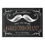 VINTAGE BE MY GROOMSMEN   GROOMSMAN 11 CM X 16 CM INVITATION CARD