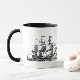 Vintage Beach sailboat nostalgic coffee mug