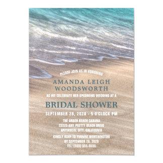 Vintage Beach Waves Sand Bridal Shower Invitations