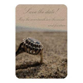 Vintage Beach Wedding Save The Date 9 Cm X 13 Cm Invitation Card