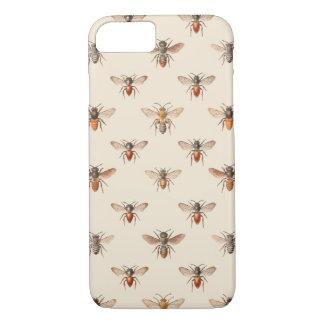 Vintage Bee Illustration Pattern iPhone 7 Case