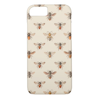 Vintage Bee Illustration Pattern iPhone 8/7 Case