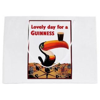 Vintage Beer Advert Large Gift Bag
