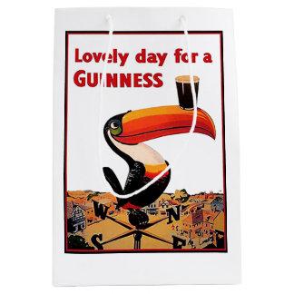 Vintage Beer Advert Medium Gift Bag