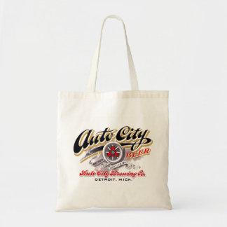 Vintage Beer Logo Label Auto City Beer Detroit Budget Tote Bag