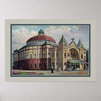 Vintage Berlin Circus Busch building Posters