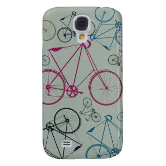 Vintage Bicycle Pattern Gifts for Cyclists Galaxy S4 Case