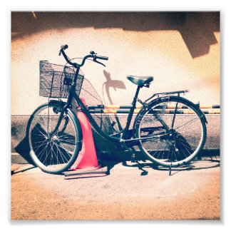 Vintage Bicycle Print, Kyotoshi, Japan Photograph