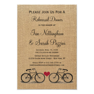 Vintage Bicycle Rehearsal Dinner Invitations