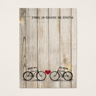 Vintage Bicycle Wedding Place Cards