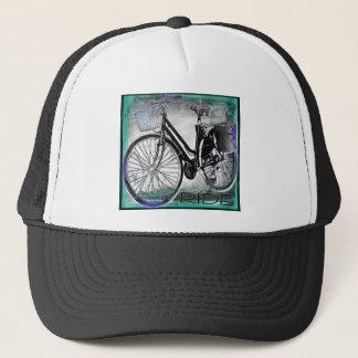 Vintage Bike Ride Teal Trucker Hat