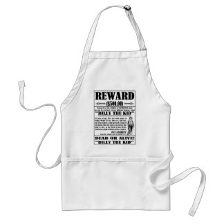 Vintage Billy the Kid Wanted Poster Standard Apron