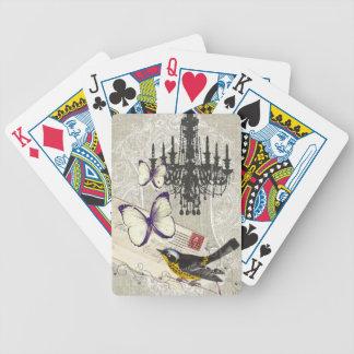 vintage Bird chandelier chic Paris Card Decks