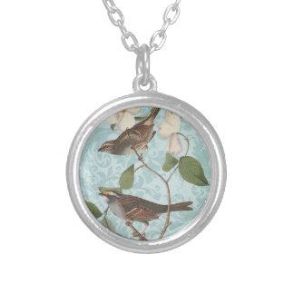 Vintage Birds charm necklace