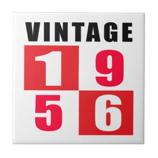 Vintage Birthday 1956 Ceramic Tile