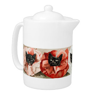 Vintage Black Cats with Ruffled Collars by Janus