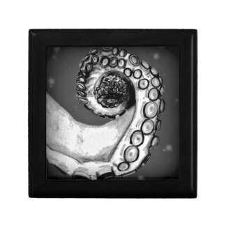 Vintage Black & White Nautical Octopus Tentacle Gift Box