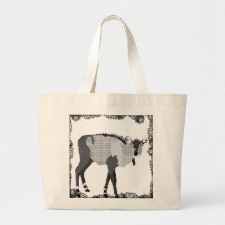 Vintage Black & White Nilgi Art Bag