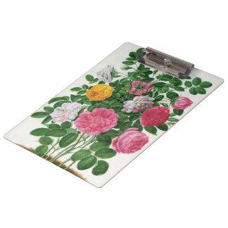 Vintage Blooming Flowers, Spring Garden Roses Clipboard