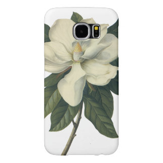 Vintage Blooming White Magnolia Blossom Flowers Samsung Galaxy S6 Cases