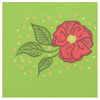 Vintage Blossom Pattern Fabric