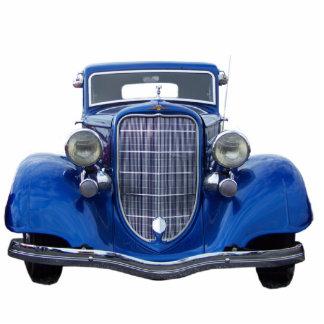 Vintage Blue Auto Ornament Photo Sculpture Decoration