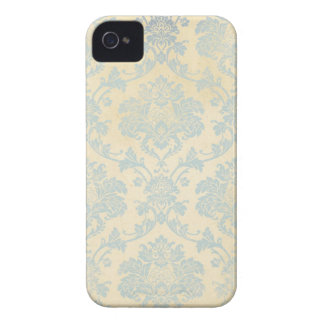 Vintage Blue Damask Case-Mate iPhone 4 Case