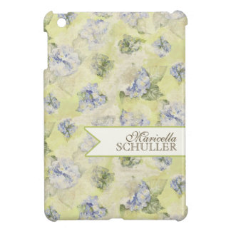 Vintage Blue Hydrangea French Wallpaper Floral Art Cover For The iPad Mini