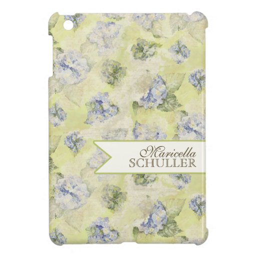 Vintage Blue Hydrangea French Wallpaper Floral Art Case For The iPad Mini