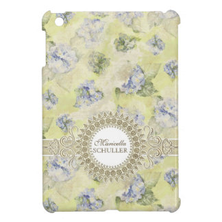 Vintage Blue Hydrangea French Wallpaper Floral Art iPad Mini Case